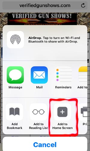 how to add icon to iphone home screen